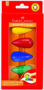FABER-CASTELL 4 GRASP CRAYONS