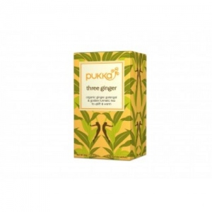 PHALADA PUKKA ORGANIC TEA THREE GINGER 20 SACHETS