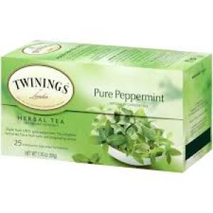 TWININGS PURE PEPPRMINT 25 TEA BAGS