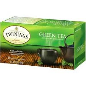 TWININGS GREEN TEA 25 TEA BAGS