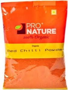 PRO NATURE ORGANIC RED CHILLI POWDER 100G