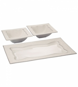 ROXX LA- BONITA PLATINUM 3PCS SERVING SET