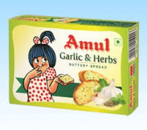 AMUL GARLIC & HERBS BUTTERY SPREAD 100G