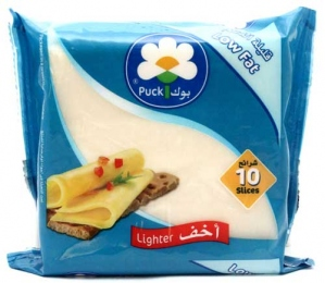 PUCK PROCESSED CHEESE SLICES LOW FAT 200G