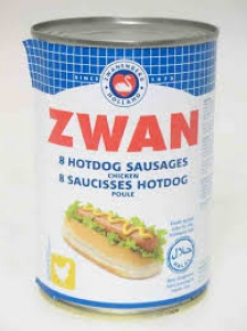 ZWAN PORK HOT DOG SAUSAGES 400G