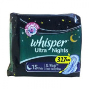WHISPER ULTRA NIGHTS XTRA HEAVY F XL WINGS 15 PADS