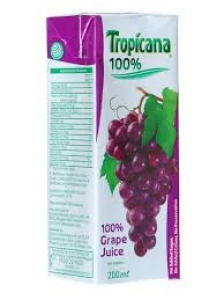 TROPICANA 100% GRAPE JUICE  200ML