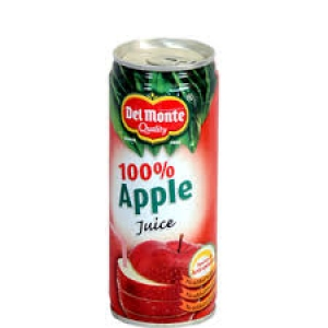 DEL MONTE 100% APPLE JUICE 240ML