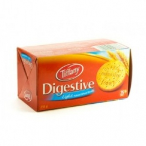 TIFFANY DIGESTIVE LIGHT NATURAL WHEAT BISCUIT 250G