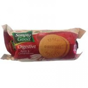 PARLE SIMPLY GOOD DIGESTIVE APPLE & CINNAMON 100G