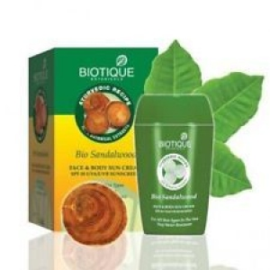 BIOTIQUE BIO SANDALWOOD 50+ SPF SUNSCREEN 50G