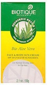 BIOTIQUE BIO ALOE VERA 30+ SPF SUNSCREEN CREAM 50G
