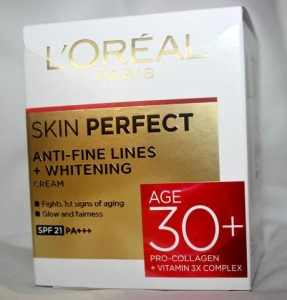 LOREAL PARIS SKIN PERFECT WHITENING CREAM 30+ 18G