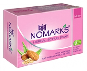 BAJAJ NO MARKS HERBAL SCRUB SOAP 75G