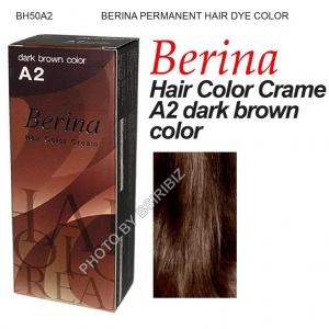 BERINA HAIR COLOR CREAM A2- DARK BROWN 60GM