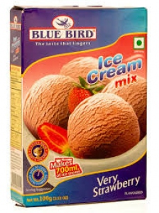 BLUE BIRD ICE CREAM MIX VERY STRAWBERRY 100G