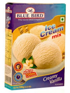 BLUE BIRD ICE CREAM MIX CREAMY VANILLA 100G