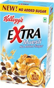 KELLOGG`S MUESLI NO ADDED SUGAR  550G